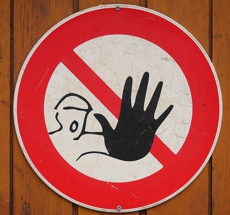 Stop Warning Sign