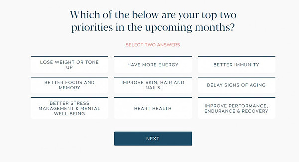 Health priorities question