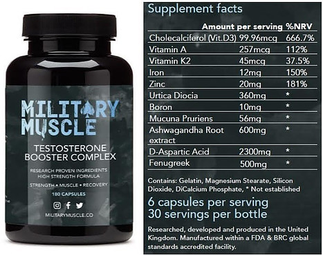 Best Testosterone Boosters 2021 Military muscle