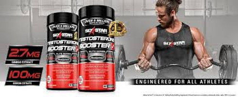 Six star testosterone booster promotional picture
